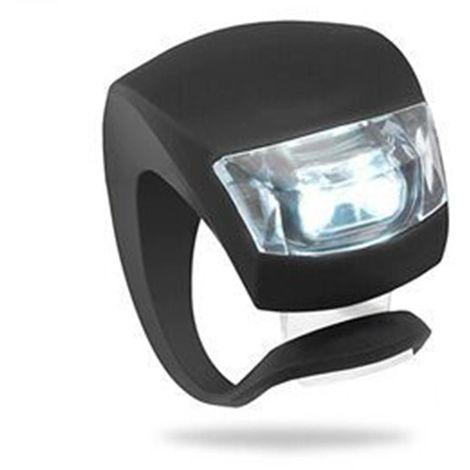 LED silicone étanche vélo avant feux arrière de vélo poussoir cycle clip lumière Noir - Noir
