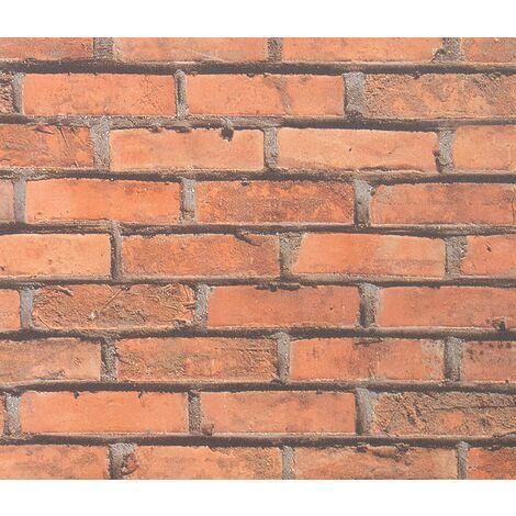 Fablon FAB10222 45 cm x 2 m Brick Wall Roll, Red