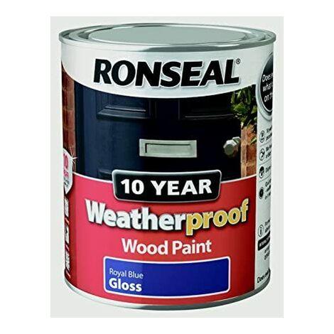 Ronseal 10 Year Weatherproof Paint Gloss Royal Blue 750ml