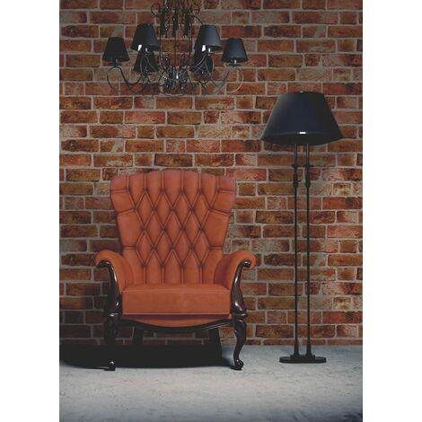 Fine Decor Natural Rustic Brick Wallpaper Red / Brown FD31045
