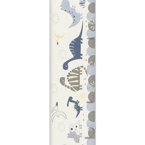 Rasch Dinosaur Wallpaper Border - Blue - 248869