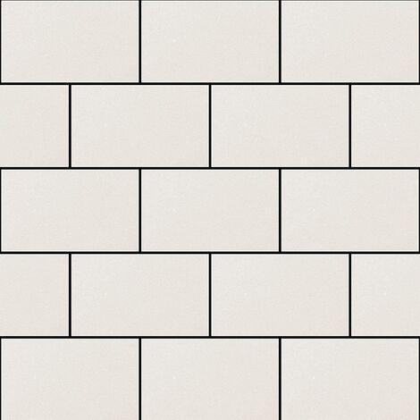 Subway Gloss Tile Wallpaper White Debona 2676