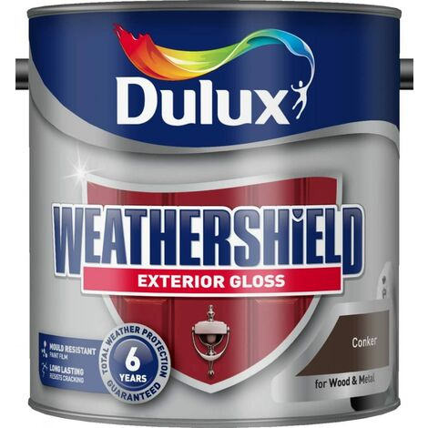 Dulux Weathershield Exterior Gloss 2.5L Conker