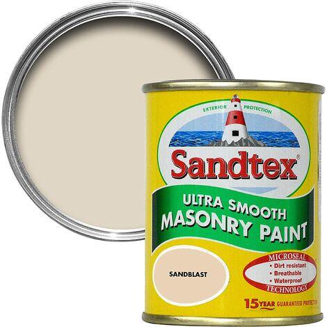Sandtex 150ml Tester Smooth Masonry Paint Sandblast
