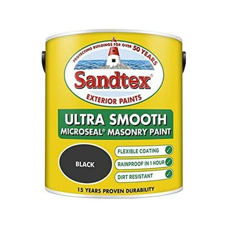 Sandtex 2.5L Smooth Masonry Paint Black