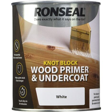 Ronseal Knot Block Wood Primer and Undercoat White 250ml