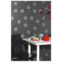 Holden Decor Tiling on a Roll Kitchen & Bathroom Heavy Weight Vinyl Wallpaper Granite Black 89130