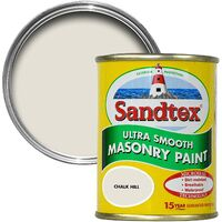 Sandtex 150ml Tester Smooth Masonry Paint Chalk Hill