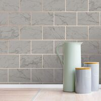 Crown M1511 Metro Brick Marble Charcoal…