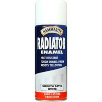 Hammerite Radiator Paint 400ml Satin White Aerosol