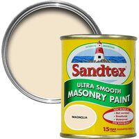 Sandtex 150ml Tester Smooth Masonry Paint Magnolia