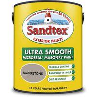 Sandtex 5L Smooth Masonry Paint Umberstone