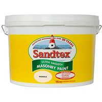 Sandtex 10L Smooth Masonry Paint Magnolia