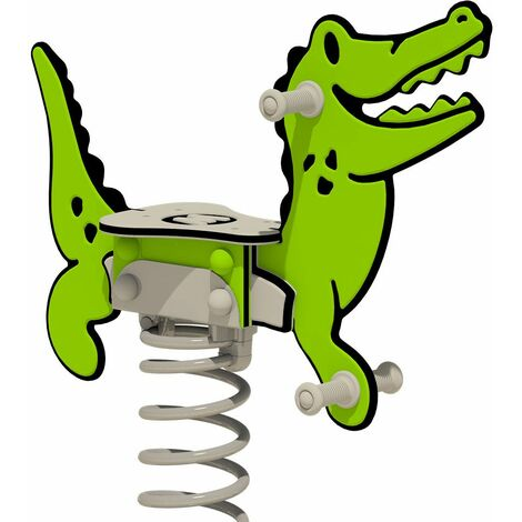 """WICKEY Spring rocker PRO Crocodile """"Crockey"""" - Developed according to EN 1176 standards - for commercial playgrounds and campsites"""