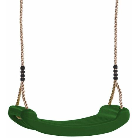 WICKEY Accessories Children's swing seat in green for climbing frames, swing sets, Garden playhouses