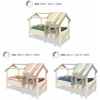WICKEY Kid´s bed, single bed CrAzY Sunrise - canvas cover children´s bed 90 x 200 cm