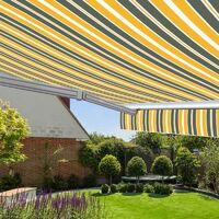 Store banne manuel Monobloc pour terrasse - Gris jaune - 3 x 2,5 m