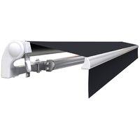 Store banne manuel Monobloc pour terrasse - Gris anthracite - 4 x 3 m