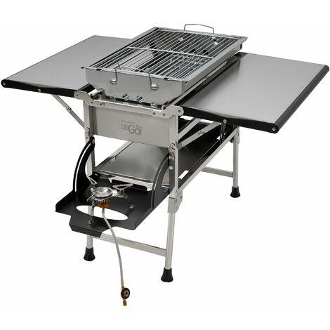 BBQ-Grill Holzkohlegrill Klappgrill Campinggrill Seitenkocher Mini Außen Grill