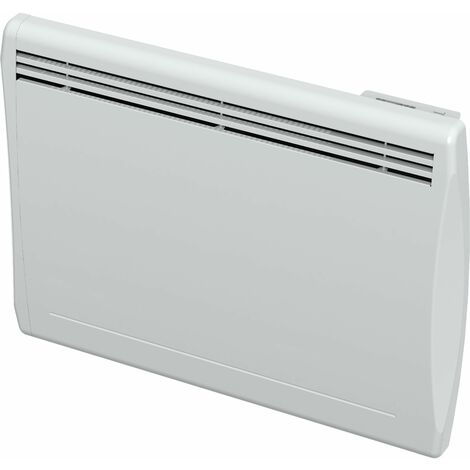 Emisor térmico seco 1000W inercia cerámica blanco formato horizontal y curvo Cayennne - Blanc