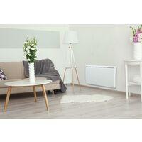 Emisor térmico seco 1500W inercia cerámica bajo consumo blanco formato horizontal y curvo Cayennne - Blanc