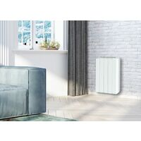Emisor térmico seco con elementos 1000W inercia cerámica blanco formato horizontal y plano - Cayennne - Blanc