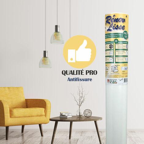 Toile de rénovation lisse murs et plafonds - 150 gr/m² - Pro - Rouleau de 20m² - a peindre, enduire ou tapisser