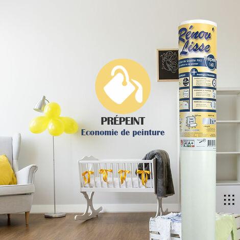 Toile de rénovation lisse murs et plafonds - 160 gr/m² - prépeint - Pro - Rouleau de 15m² - a peindre, enduire ou tapisser
