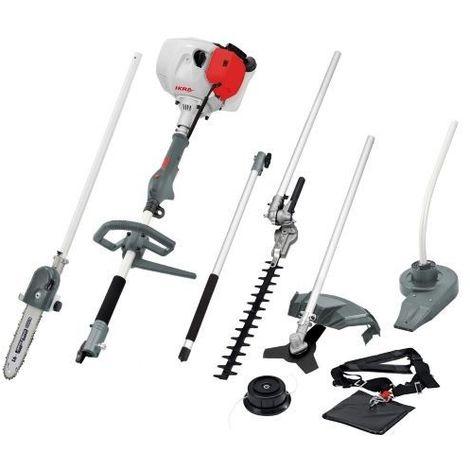outils 5 en 1 équipé debroussailleuse lame+fils élagueuse taille-haie -souffleur