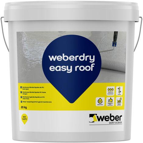 Impermeabilizante híbrido de poliuretano en base agua - weberdry easy roof blanco