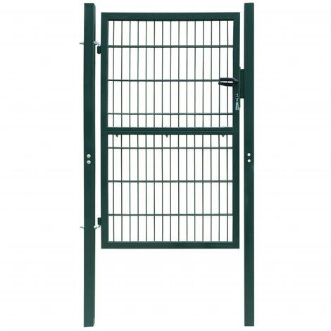 Portillon 2D (simple) Vert 106 x 190 cm