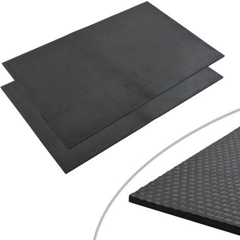 Tapis de sol Caoutchouc antidérapant 1,2x0,8 m 12 mm Galets