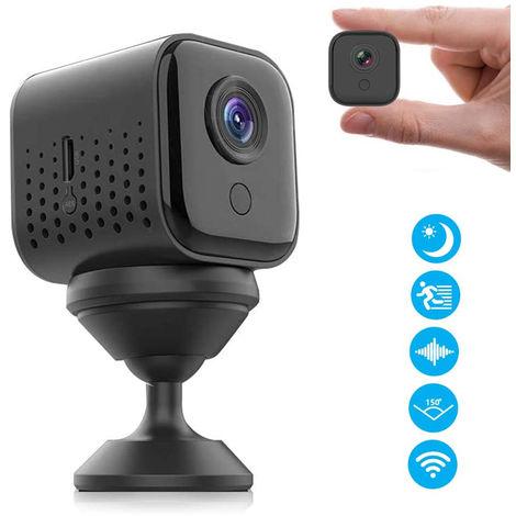 Mini caméra espion cachée sans fil, 1080P HD WiFi petite surveillance de capteur de mouvement de caméra de sécurité domestique intérieure portable