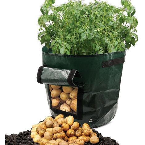 2pack Plant Bag Plantation Cultiver Sacs Sacs De Culture De Pommes De Terre Jardin Cultiver Sacs Pommes De Terre Légumes Cultiver Planter Sac avec Poignées