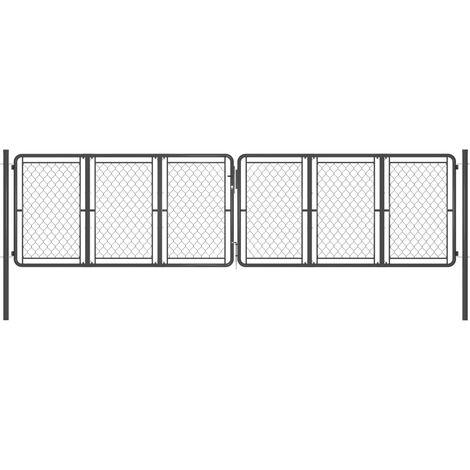Portail de jardin Acier 400x125 cm Anthracite