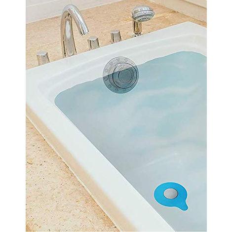 Value Pack Kit - Bouchon de vidange de baignoire et couvercle de trop-plein de baignoire | Augmentez les niveaux d'eau de la baignoire et scellez votre drain