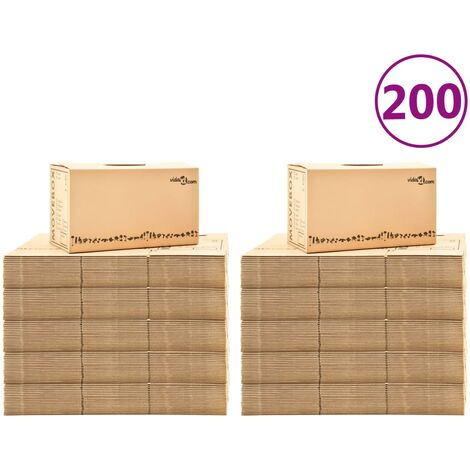 Boîtes de déménagement Carton XXL 200 pcs 60x33x34 cm