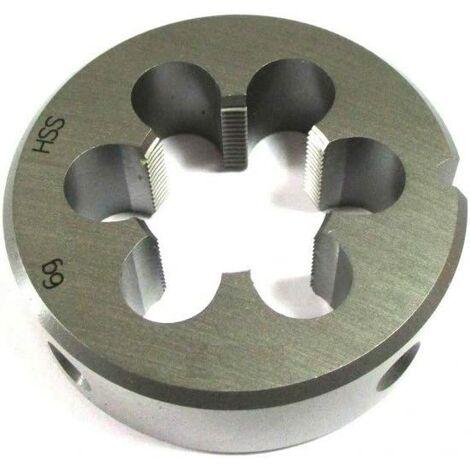 Filière M10 x 1,25 filetage fin HSS DIN ISO 13.