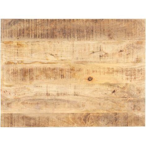 Dessus de table Bois de manguier solide 15-16 mm 70x60 cm