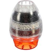 Filtre à eau à charbon actif domestique Mini robinet de cuisine Purificateur d'eau Cartouche de filtration d'usine 21-23mm, vert