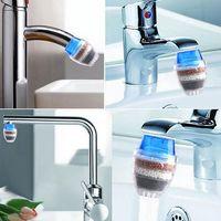 Filtre à eau à charbon actif domestique Mini robinet de cuisine Purificateur d'eau Cartouche de filtration d'usine 21-23mm - Bleu