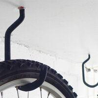 1 paire de crochet de vélo, convient à tous les types de vélos, grande ouverture, facile à mettre en marche / à désactiver - Crochets / cintres parfaits pour le rangement et la suspension de vélos au plafond et au mur de garage, noir