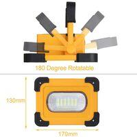 Projecteur LED, batterie 9000mAh rechargeable, lampe de travail T-SUN 60W avec panneau solaire, projecteur portable étanche et sûr, utilisé pour le camping, l'entretien de la voiture
