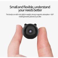 Mini caméras de sécurité à distance WiFi domestique HD 1080P, détection de mouvement intelligente, notifications push instantanées, lecture à distance, fonction magnétique, caméra espion de vision nocturne