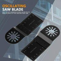 Lot de 20 lames de scie oscillante, outil multifonction lame, 34 mm, lame oscillante pour la réparation de la coupe