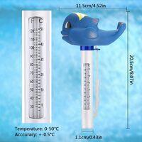 Thermometre Piscine,Thermomètre Flottant De Piscine Avec Une Corde, Flottant Résistant Aux Chocs Thermometre De Piscine Avec Une Corde Pour Toutes Les Piscines Extérieures Et Intérieures Spas