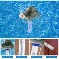 Thermometre Piscine,Thermomètre Flottant De Piscine Avec Une Corde, Flottant Résistant Aux Chocs Thermometre De Piscine Avec Une Corde