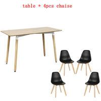 WYCTIN® juego 1 mesa + silla de comedor 4PCS