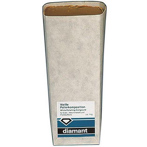 Pasta de polir, aplicación para : metales preciosos, blando y aluminio, Contenido 700 g, color blanco-beige