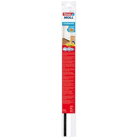 Tesa junta aislamiento parte inferior de puerta - Sellar con burletes parte inferior de puerta suelo plástico Cepillo 1m x 37mm x 12mm (por 5)